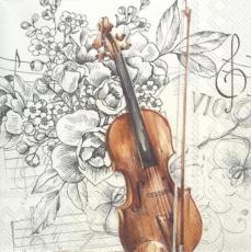 Violine mit schönen Blumen - Violin with beautiful flowers - Violon avec de belles fleurs