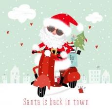 cooler Weihnachtsmann auf einer Vespa - Cool Santa on a Vespa - Cool Santa sur une Vespa