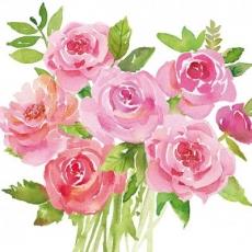 schön gemalter Rosenstrauss - beautifully painted bouquet of roses - bouquet de roses magnifiquement peint