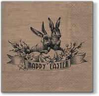 Vintage Osterserviette - Vintage Easter napkin - Serviette de Pâques Vintage