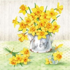 Narzissen in alter Kanne - Daffodils in old jug - Jonquilles dans la vieille cruche