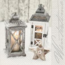 2 Laternen & 1 Dekostein mit Herz - 2 lanterns & 1 decoration stone with heart - 2 lanternes & 1 pierre décorative avec coeur