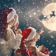 der Weihnachtsmann auf Reisen - Santa Claus traveling - Santa Claus voyager