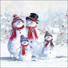 Schneemannfamilie - Snowman Family - Famille bonhomme de neige