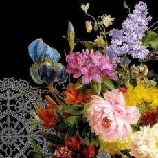 großartiger Strauss, schwarz - great bouquet, black - grand bouquet noir