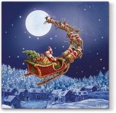 Weihnachtsmann, Rentiere, Schlitten - Santa, reindeer, sleigh - Père Noël, renne, traîneau