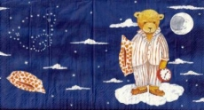 Asger B -  Schlafmütze - Plush bear, Time for bed - ours en peluche, Heure daller au lit