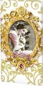 Nostalgische Frau mit Katze - Nostalgic woman with cat - Femme nostalgique avec chat