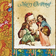 Kinder beim Weihnachtsmann, nostalgische Erinnerungen - Childen with Santa Claus, Nostalgic memories - Enfants à Santa Claus, souvenirs nostalgiques