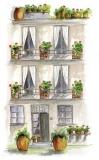 Haus mit Balkonen