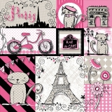 Eifelturm, Paris, Katzen, Motorrad und Triumphbogen