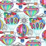 verschiedene Heissluftballons