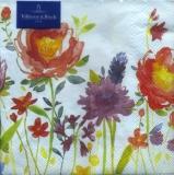 buntes Wiese mit Tulpen und Lavendel