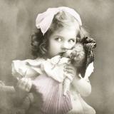 Vintage Kind mit Puppe