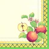 Apfel und Apfelblüten