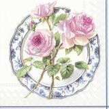 wunderschöne Rose auf einen Teller