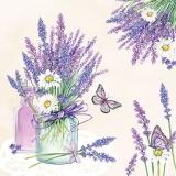 Schmetterlinge besuchen Lavendel in der Vase
