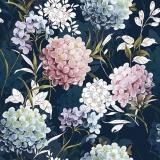 Wunderschöne Hortensienblüten in weiss, rose, blau, lila