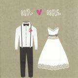 Mann und Frau Hochzeitskleidung