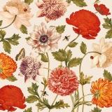 Schmetterlinge, Marienkäfer, Bienen und viele bunte Blumen