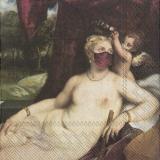 Frau mit Engel und Minnesänger tragen Mundschutz