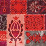 Marokkanische Muster in rot