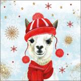 Süßes Winter Lama