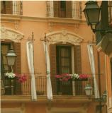 schöne Balkonansicht italienischer Stil