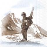 Nostalgischer Ski Abenteurer