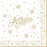 Merry Christmas mit goldenen Sternen