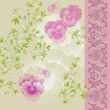 Zarte Stiefmütterchen pink - Pansies pink - Pensées tendres roses