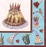 2 Kuchen zur Feier blau