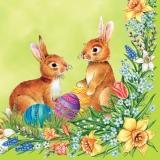 2 putzige Osterhäschen III - 2 cute easter bunnies - 2 Lapin mignon de Pâques