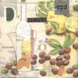 Collage Oliven & Zitrusfrüchte