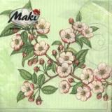 Apfelblüte grün