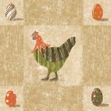 8 Ostereier & 2 Hühner - Country Easter