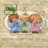 3 süße Engelskinder blau - 3 sweet angels  - 3 anges sucrés