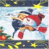 Mein bester Winterfreund,Schneemannfreund - Boy and Snowman - jeunes et bonhomme de neige