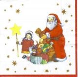 Santa verteilt Geschenke
