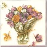 Krokusstrauß in Notenblatt - Crocus bouquet in music sheet - Bouquet de Crocus dans la feuille de musique