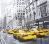 Amerika, USA, New York City, Manhattan, Taxis - Cabs, Avenue scene, United States of America - Amérique, États-Unis