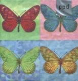 4 Schmetterlinge - 4 Butterflies - 4 papillons