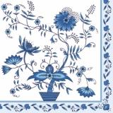 Blaues Blumenmuster - blue flower pattern - Modèle de fleurs bleu