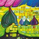 F. Hundertwasser - Testament in Gelb