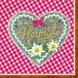 Heimat - Edelweiß & Herz rot - Home - Edelweiss & Heart red - Accueil - Edelweiss & Coeur rouge