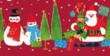 Rudi, Santa & 2 Schneemänner - Rudi, Santa & 2 Snowmen - Rudi, Père Noël & 2 bonhommes de neige