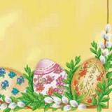 5 Ostereier & Weidenkätzchen
