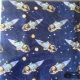 Junge mit Rakete im Weltall / Astronaut - Spaceboy