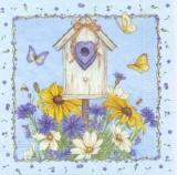 Vogelhäuschen, Schmetterlinge & Blumen -     Birdhouse , butterflies & flowers -