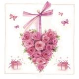 3 Rosenherzen & Schmetterlinge, Geschenke - 3 rose hearts, butterflies & presents